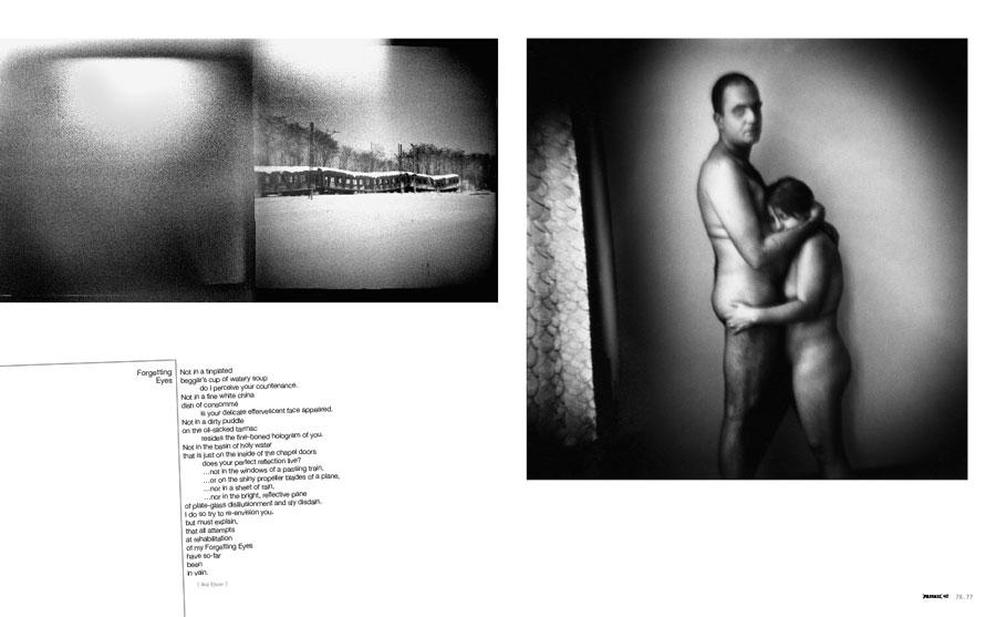 PRIVATE 40, p. 76-77, photo Michael Ackerman, text Ana Elsner