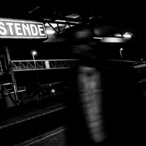 The train Station in Ostende. Most of the migrants arrive by train. March, 2012