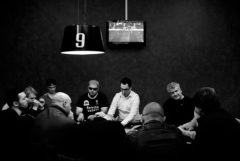 Vicenza, Italy - May 2012. Texas Hold'em Poker Cup at Nut's Club.