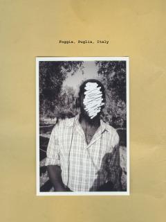 Foggia, Italy - August 2014. Portrait of a tomato picker.