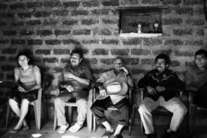 TEOSINTE, EL SALVADOR - November 2013. A town council meeting. Since the return to the village after the civil war, democracy is even more important.