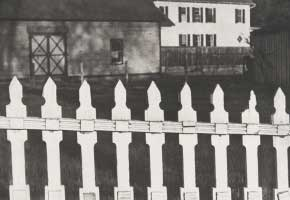 Paul Strand White Fence, Port Kent, New York, 1916 Gelatin-silver print, 24.5 × 32.5 cm  Philadelphia Museum of Art, The Paul Strand Retrospective Collection © Estate of Paul Strand