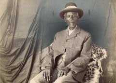 Unidentified Photographer, Studio portrait of King Khama III. South Africa, earliy twentieth century.