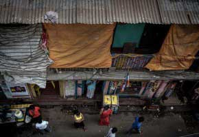 Kolkata, India - April 2015. Sonagachi is one of the largest brothel colonies in Asia and it houses more than 20,000 sex workers. Sonagachi is situated at the northern fringe of Kolkata, West Bengal.