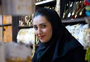 Isfahan, Iran - November 2014. A gold seller in the bazaar