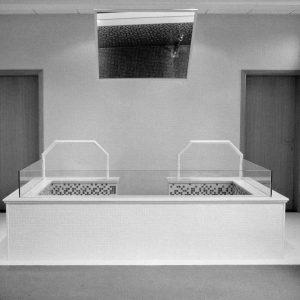 NAMUR, BELGIUM. Spring 2015. mormon baptism room