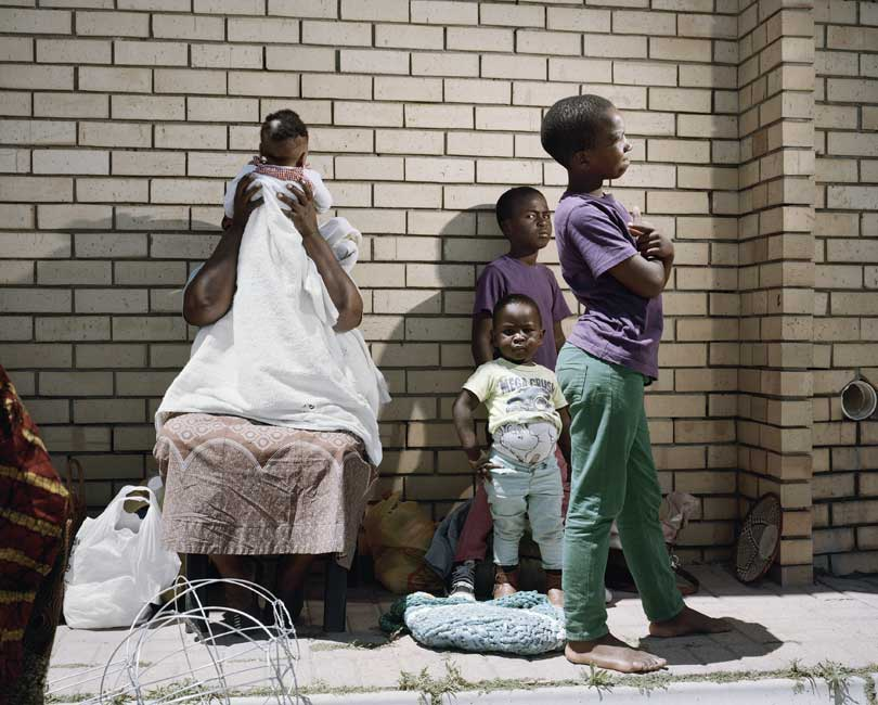 Sylvia Ntantiso and the children, Dunoon, Cape town, 2014
