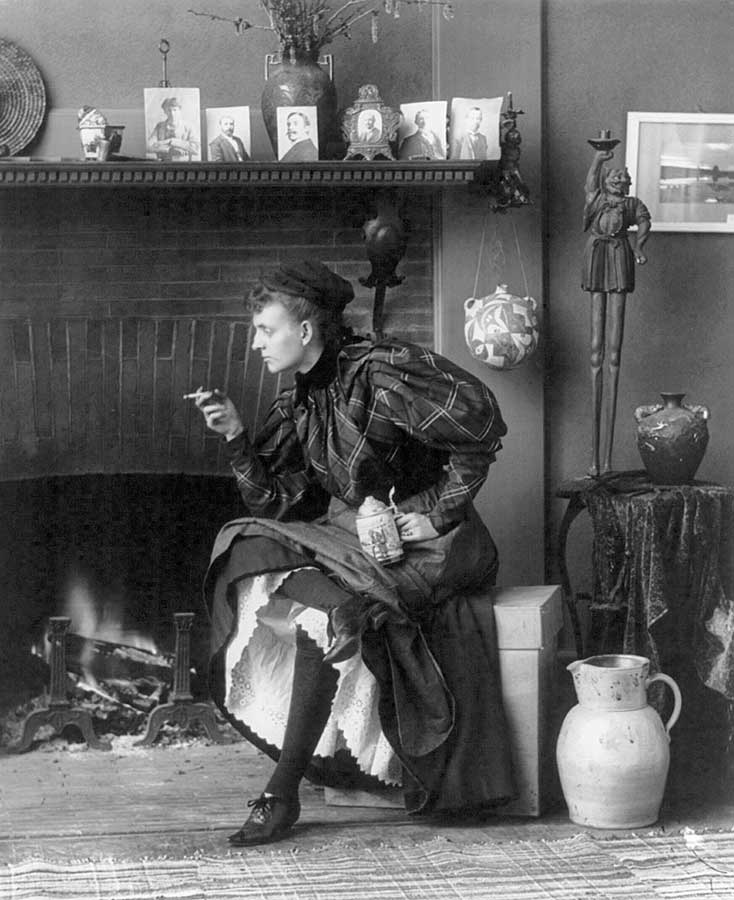 © Frances Benjamin Johnston, selfportrait