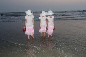 Coxbazar,Bangladesh-April 14.Girls taking  Photos in the beach