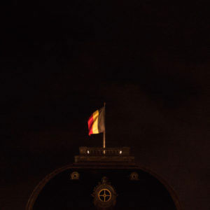 The Belgian flag waves on the top of the Royal palace of Brussles, after the Belgian and European capital have been under lockdown for 4 days with a maximum alert level on terrorist attack. On international media Belgium, divided among French, Dutch and German speakers, has been considered  attractive to terrorists, also due to a diffuse incoordination related to its state organization.