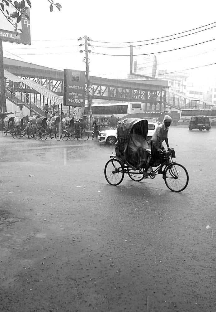 Uttora, Dhaka, Bangladesh-June, 2014. Monsoon