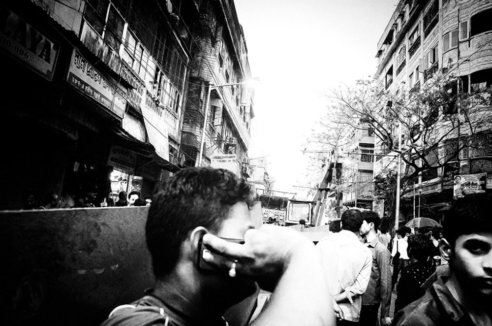 Girish Park,Kolkata,India-March 2016.Frantic phone calls were made immediately to relatives and friends to know about their well being and to inform them to avoid the place.
