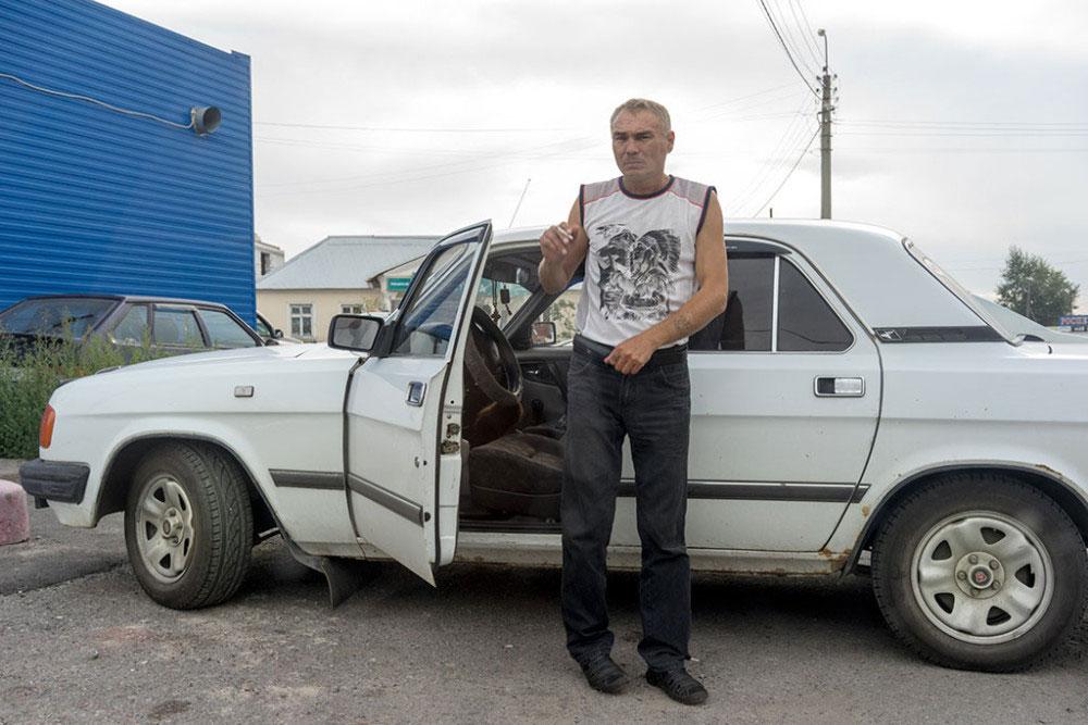 CHELYABINSK, RUSSIA- JULY 2015. A resident of Chelyabinsk