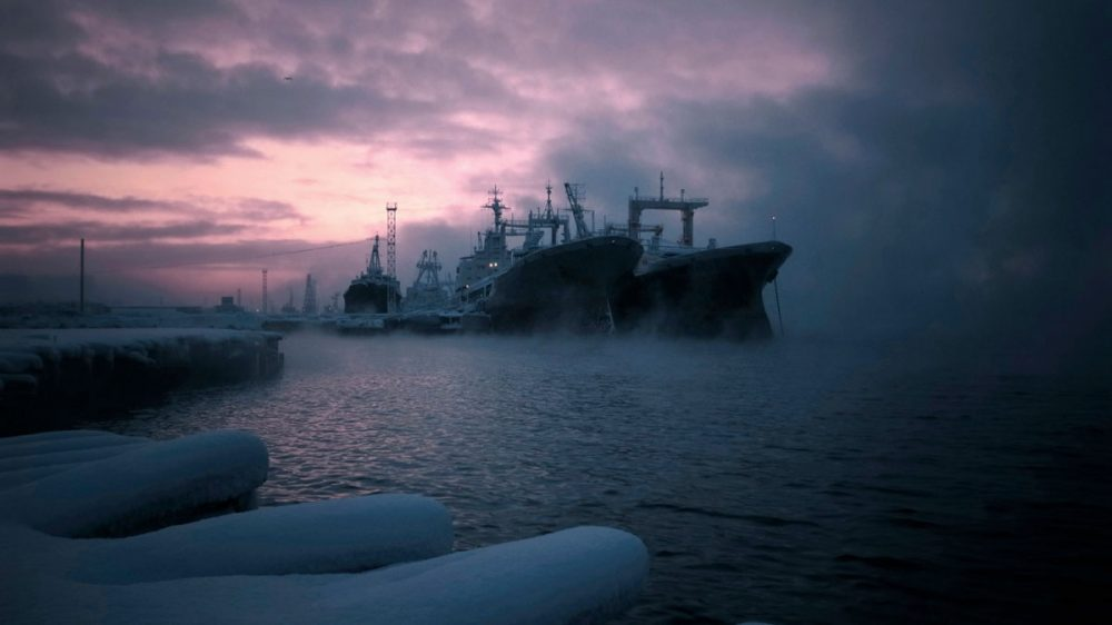 Murmansk - Kola harbor. December 2014