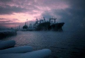 Murmansk - Kola harbor. December 2014