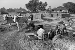 Kolkata, India- February 2016. Digging out Clay