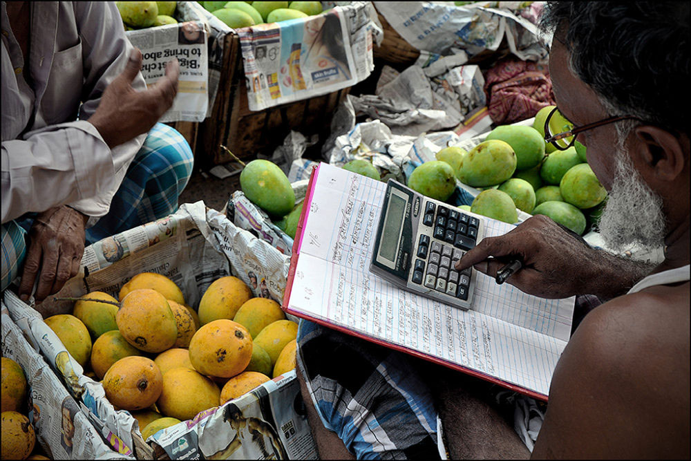 April-May 2015, Kolkata : Book keeping for the day.