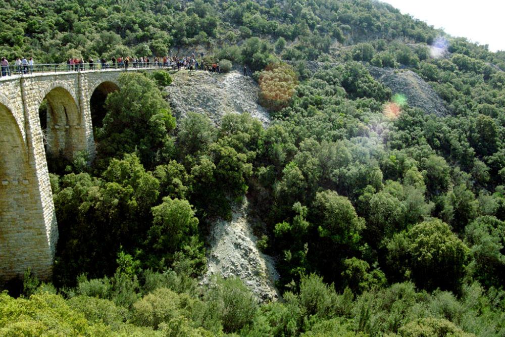 One of the 5 stone bridges, Pelion, Greece, March 2015