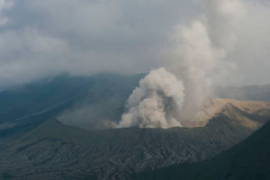 PROBOLINGGO, INDONESIA - July 19: A General view of the Bromo Tengger Semeru National Park, the location of the Tenggerese villages where the Tenggerese Hindu Yadnya Kasada Festival is held on 19 July 2016 in Probolinggo, East Java, Indonesia.