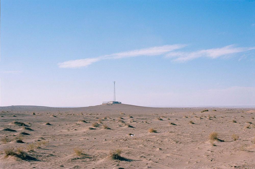 Antenna in Maranjab desert, Kashan, Iran, November 2015