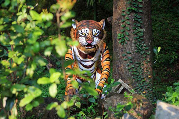 Around the months of September and October each year, as the ten days of Dussera near, boys and men in the region of Karnataka known as Dakshin Kannada prepare to become tigers.