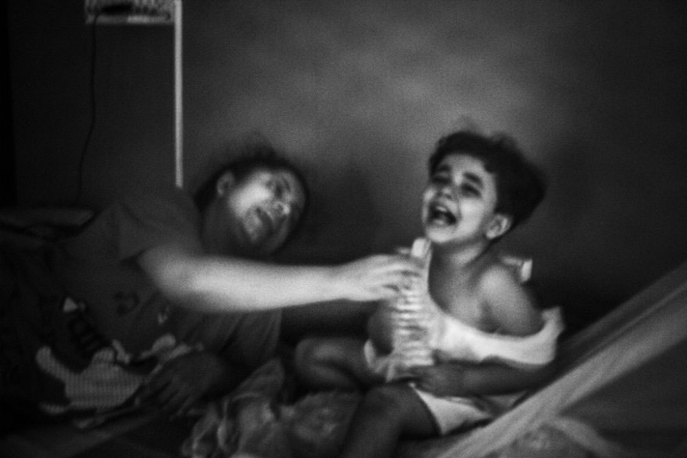 11. KOLKATA, INDIA - June 2016. Shreyasee, a single mother and her daughter having good time with each other.