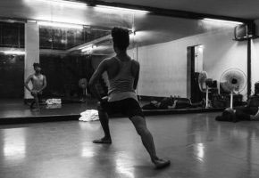 kolkata,India- September 11, 2016. Asish warming up before rehearsal sessions