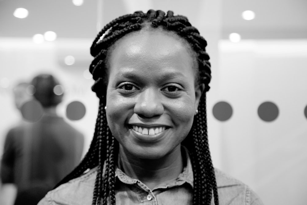 """London, United Kingdom - 9 October 2016. """"My name Bridget, I come from Uganda. I am part of Room to Heal [a group which supports refugees who have survived torture and other forms of organised violence]. They put me in touch with the Helen Bamber Foundation who suggested that I apply to this program and everything went from there. We had to create a webpage to get in. You needed to put a lot of work into it and look everything up yourself. I did mine on Albert Einstein."""""""