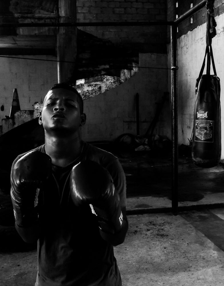 San Andrés, Colombia - October 2016. A lot of boxing is about hype, beating your opponent mentally before you\'ve even stepped into the ring with them.