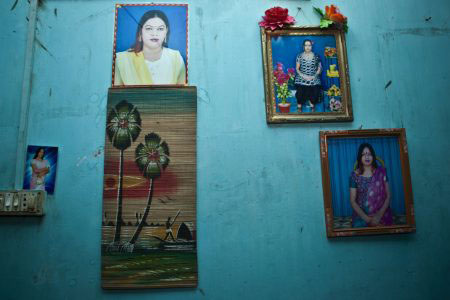 Family portraits. Dhaka.