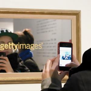 Watermark, vinyl text over mirror, 2013 © Geraldine Juárez