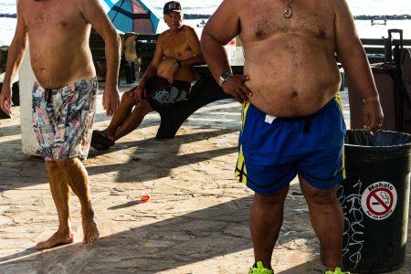 Waikiki, Honolulu, Hawaii-March 2017. The old Waikiki beach boys.