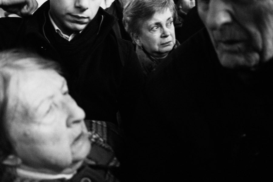 Waiting for the Romanian royal family arriving onboard the royal train. Bucharest North, 2013.