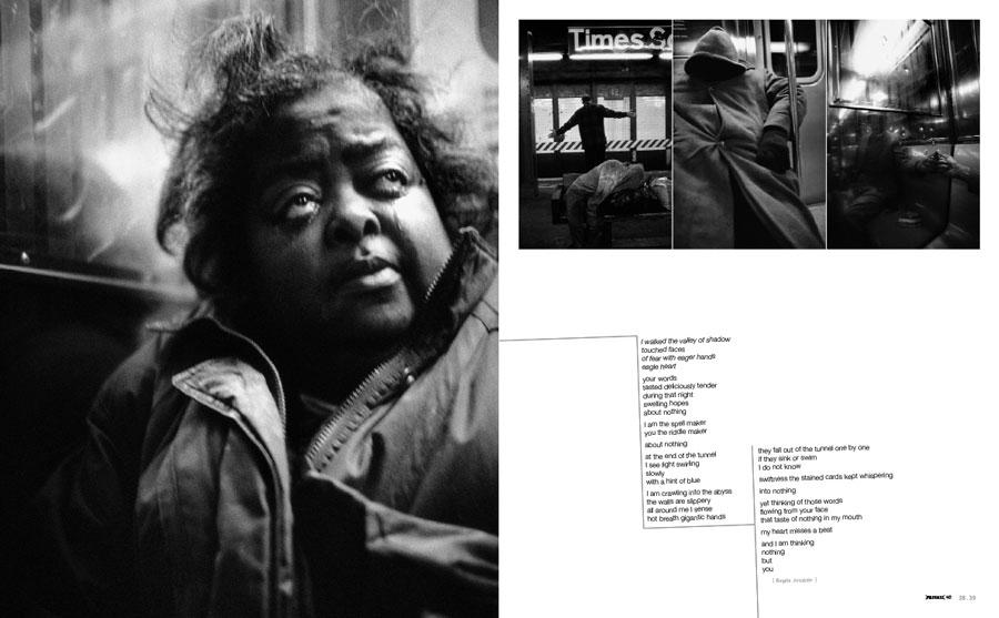 PRIVATE 40, p. 38-39, photo Christophe Agou, text Birgitta Jonsdottir