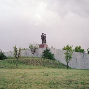 The statue of the parents of Francisco el Pocero, constructor of the Residencial Francisco Hernando in Sesena, Spain. El Pocero planned to build the biggest housing development  in Spain's with 13,508 homes. However, only 5,096 houses have building permit, and only 750 people have been registered so far in Sesena. 28/05/2011