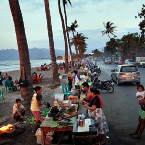 East Timor, Dili, August 2012. Eaterys in the waterfront.