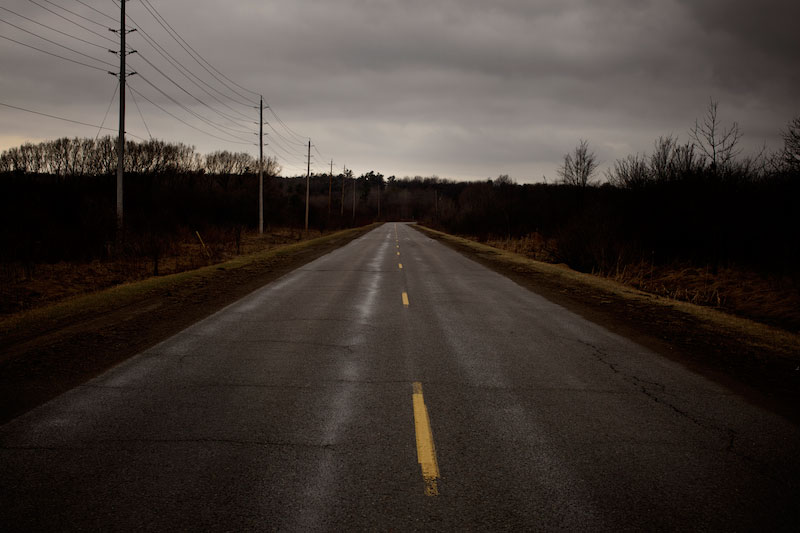 A road leading out of Port Hope, © Mike Berube