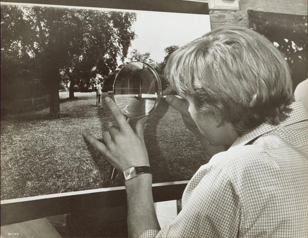 Arthur Evans  David Hemmings in Blow-Up, 1966 Film-Still, Silbergelatine-Abzug, 20.3 x 25.4 cm Privatsammlung, Wien Foto: Arthur Evans, Privatsammlung Wien, Courtesy: Neue Visionen Filmverleih GmbH