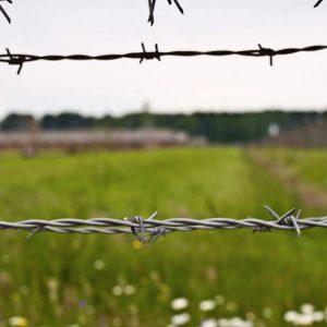 Netting of extermination camp of Birkenau, Poland - May 2015