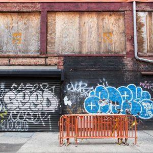 New York, USA - September 2015, East Village under Construction