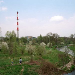 Wloclawek, Poland - April 2014. Heating Plant.