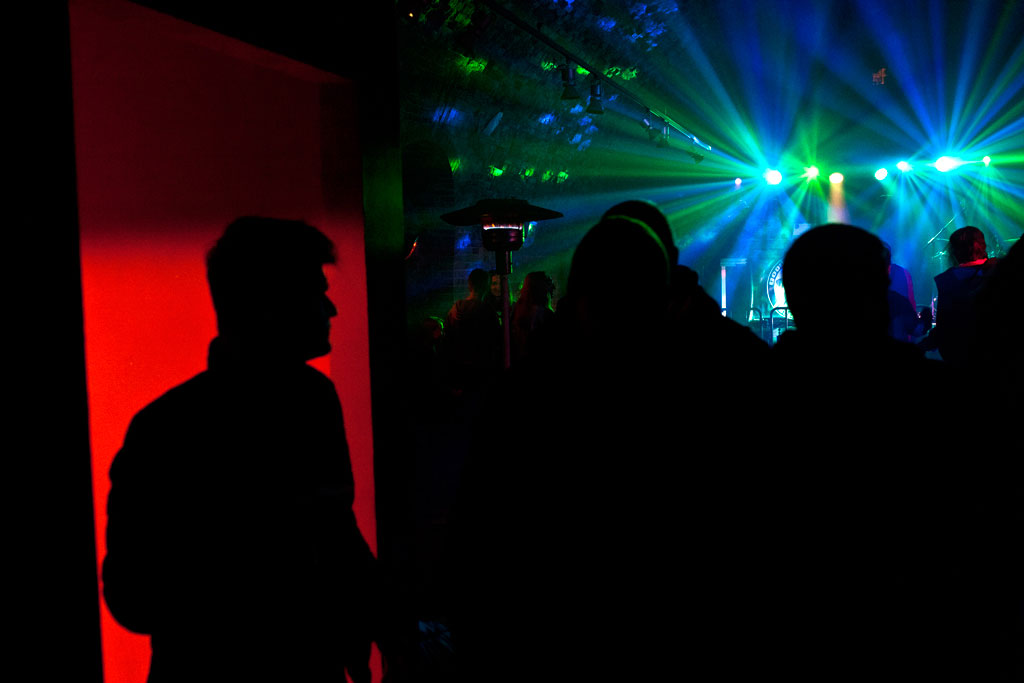 Zamosc, Poland - April, 2015. A Zamosc nightclub over Easter Weekend. Many of the party goers had returned to see their families and friends from abroad.