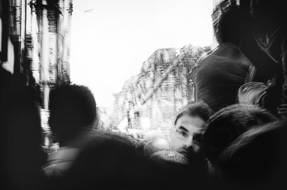Girish Park,Kolkata,India-March 2016.Lost in the Chaos-When the flyover collapsed ,a huge crowd gathered ,all trying in vain to help and rescue the trapped people inside the debris.This abstract image portrays the chaotic and traumatic environment