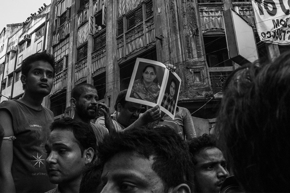 Kolkata, India- 31st March, 2016. A man who has lost his family members.