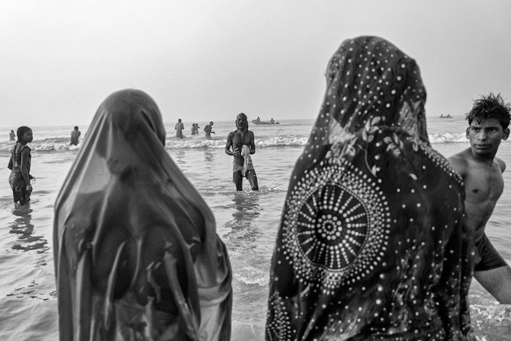 Gangasagar, West Bengal, 14th January'14 : Prayer, after the holy bath.