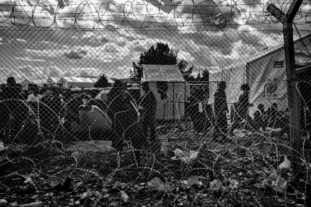 Idomeni / Border Grece to Macedonia 3/9/2016 / 11 am