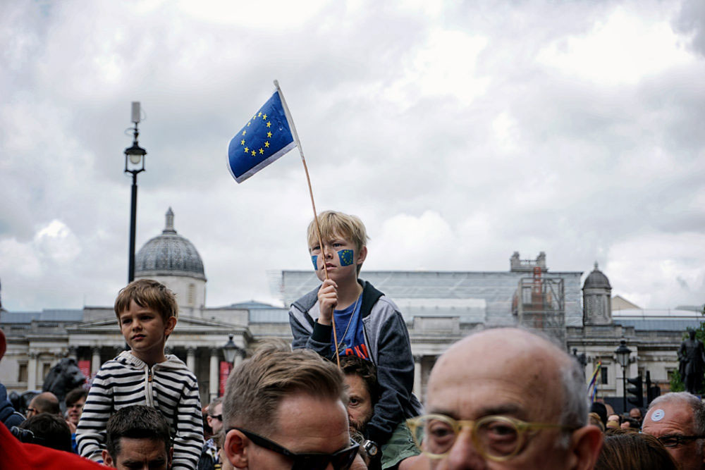 London, UK - Jun-July 2016. Some of them still believe that Britain was being held back by the EU, due to imposed financial & industrial rules and membership fees of billions of pounds a year with little in return. But probably the most critical deciding factor for them is the high level of immigration.