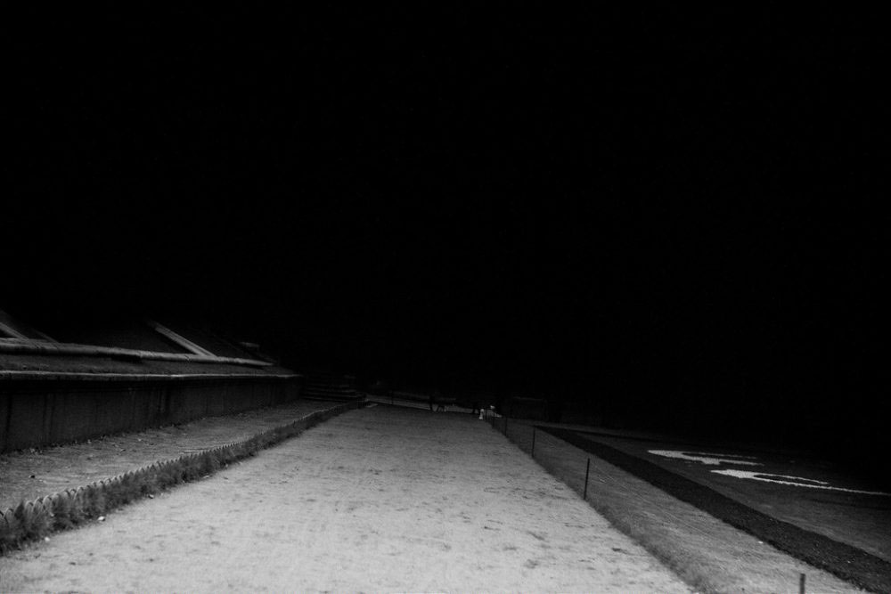 Peterhof, Russia, November 1, 2015. Runway to darkness.