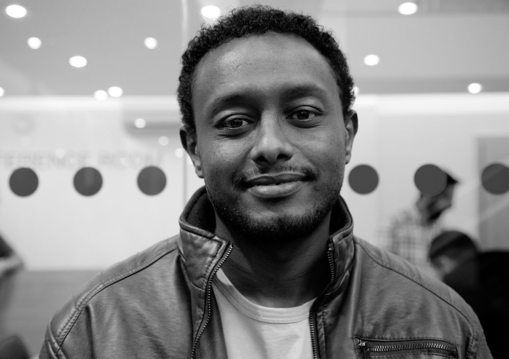 "London, United Kingdom - 9 October 2016. ""My name is Sentayhu and where I come from in Ethiopia it means 'one who has seen a lot'."""