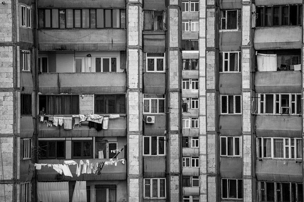 Yerevan, ARMENIA - 2016. Residental building